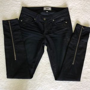 PAIGE Sienna coated mid-rise skinny jeans - NWOT